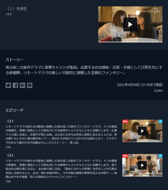 リモートドラマ「Living」U-NEXTキャプチャ,画像