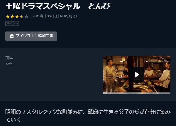 U-NEXT「NHKとんび」キャプチャ,画像
