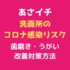あさイチ 「洗面所のコロナ感染リスク」テキスト,画像