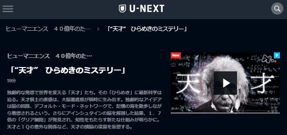 """U-NEXTヒューマニエンス「""""天才""""ひらめきのミステリー」キャプチャ,画像"""